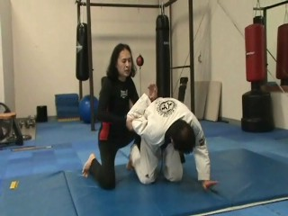 Kneeling Headlock Backdoor Escape to Armlock