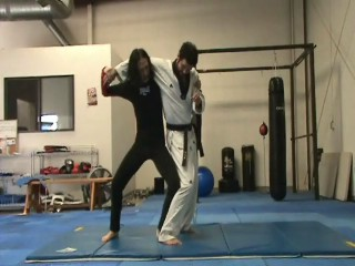 Standing Headlock Backdoor Escape into Armlock